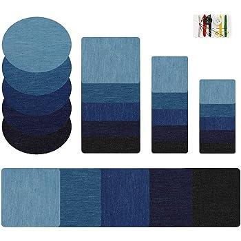 MaoXinTek Parches termoadhesivos Jeans 5 Colores Denim Ferro-on Turno Cloth Patch Parche para Ropa Parche Bordado simpático DIY Ropa Parche para Camiseta Vaqueros Ropa Mochila 25 Unidades: Amazon.es: Hogar