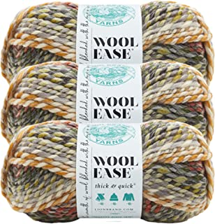 (3 Pack) Lion Brand Yarn 640-612D Wool-Ease Thick and Quick, Coney Island