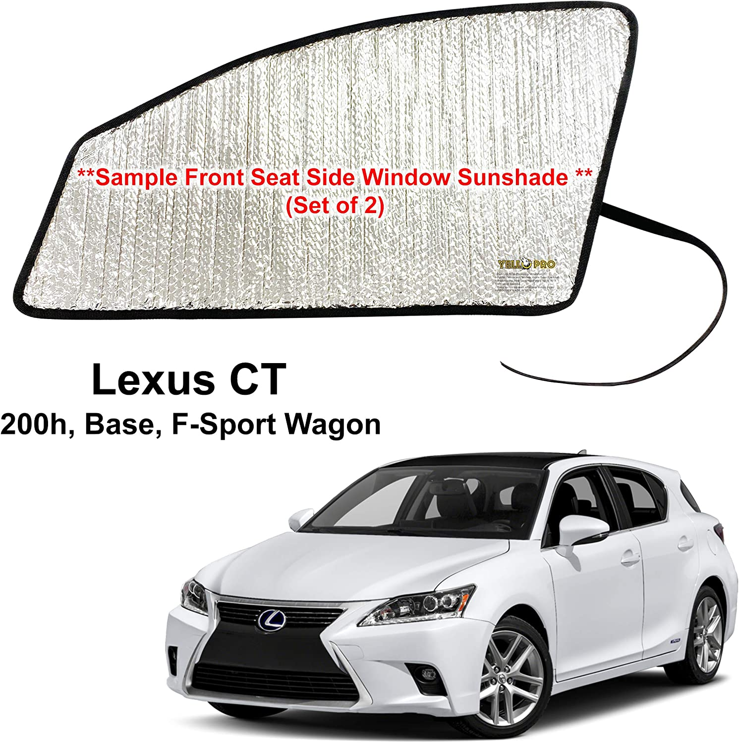 Side Window Front Seat Regular Japan's largest assortment store Reflective Sunshade 2011 Fit for 2 Custom