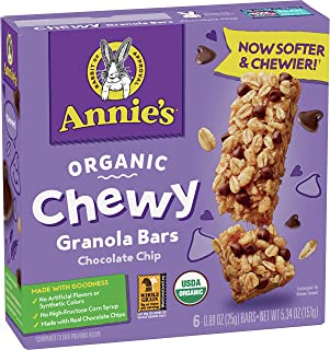 Annie's Organic Chewy Granola Bars Chocolate Chip, 5.34 oz, 6 ct (Pack of 12)