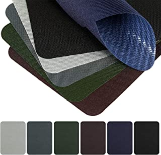 Naler 30 Pieces Iron on Patches Fabric Twill Patches for Clothing Jeans Jacket Cotton Jeans Repair Kit Art Craft Decoration Ornaments, 6 Colors (4.9