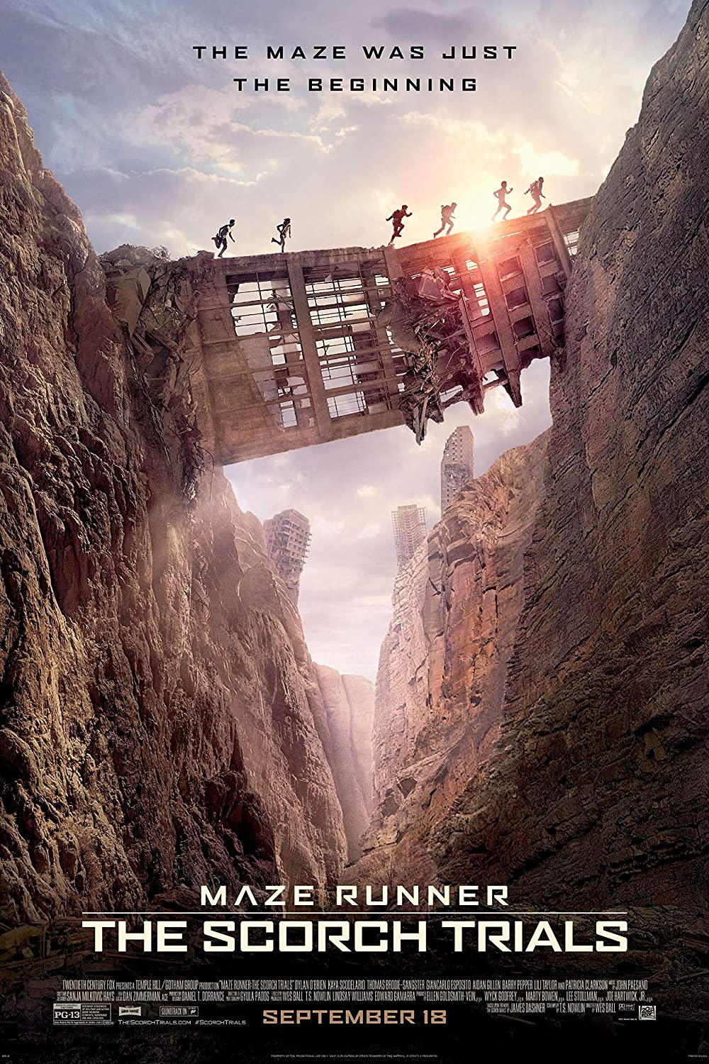 Black Creations Maze Runner  The Scorch Trials 3 Movie Poster Canvas Picture Art Print Premium Quality A0 A1 A2 A3 A4 (A0 Canvas (30 40))