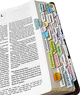 Mr. Pen- Bible Tabs, 72 Tabs (66 Books, 6 Blanks), High Gloss Paper, Bible Journaling Supplies, Bible Tabs Old and New Tes...