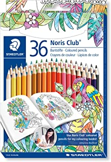 STAEDTLER Noris Club Colouring Pencils, Johanna Basford Edition, Assorted Colours, Pack of 36