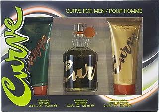 Liz Claiborne Curve 3 Pc. Gift Set (Cologne Spray 4.2 Oz + After Shave Balm 3.4 Oz + Shower Gel 3.4 Oz) for Men by Liz Claiborne, 680.39 g