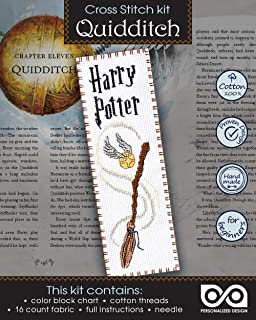 """Cross Stitch Kit """"Quidditch"""" - Hand Embroidery Bookmark"""