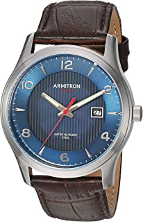 Armitron Men's Solar Powered Croco-Grain Leather Strap Watch, 20/5366