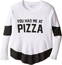 You Had Me at Pizza Thermal Contrast Pullover (Big Kids)