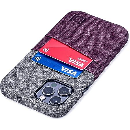 Dockem Luxe M2 Funda Cartera para iPhone 12 y iPhone 12 Pro: Funda Tarjetero Slim con Placa de Metal Integrada para Soporte Magnético: [Corinto y Gris]