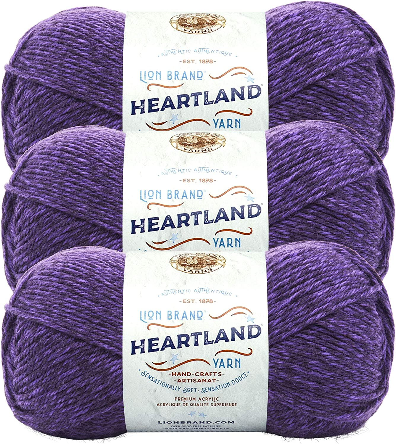 3 Very popular Pack Lion Brand Springs New Free Shipping Heartland Hot Yarn