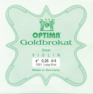 Lenzner Goldbrokat 4/4 Violin E String - Steel - #26(medium) Gauge - Loop End