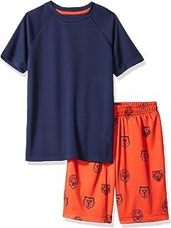 Spotted Zebra Boys' Active Short-Sleeve T-Shirt and Shorts Set