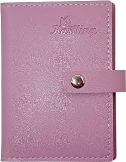 Karlling Soft Leather Case Wallet Bag Holder for 20 Credit Cards Pink