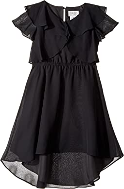 Us Angels - Flutter Sleeve Ruffle Front with Hi-Lo (Big Kids)