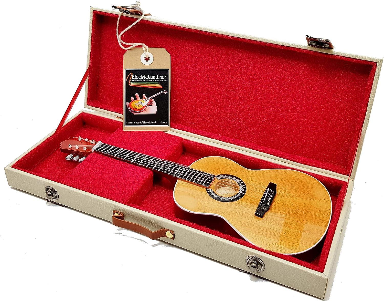 Mini Guitar PACO DE LUCIA Flamenco réplica modelo + Hard Case Box miniaturas a escala 1:4 guitarra española miniatura con funda de colección gadget Rock memorabilia