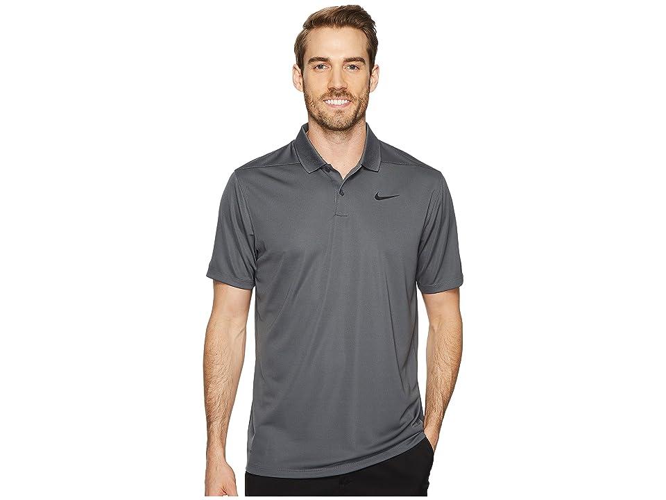 Nike Golf Dri-FITtm Victory Polo (Dark Grey/Black) Men