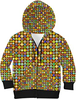 Rainbow Rules Wilderness Explorer Badges Disney Up Inspired Kids Zip Up Hoodie Unisex