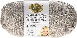 Lion Brand Yarn 674-123 Touch of Alpaca Yarn, Taupe