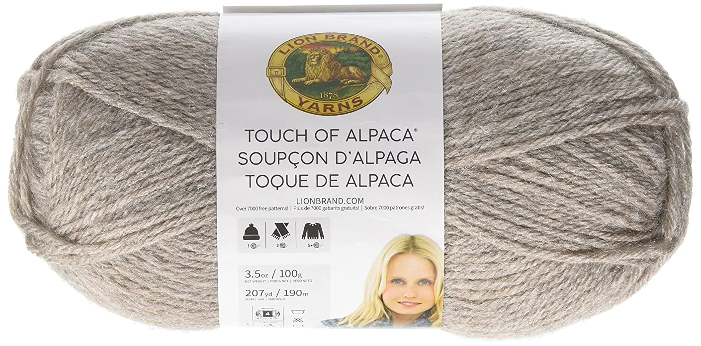 Lion Brand Yarn 674-123 Touch of Alpaca Yarn, Taupe
