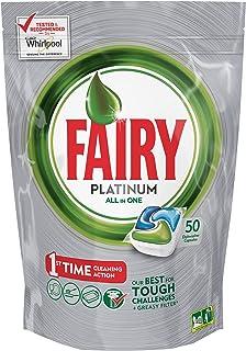 Fairy Platinum Original DishWasher Tablets, 50 Tablets