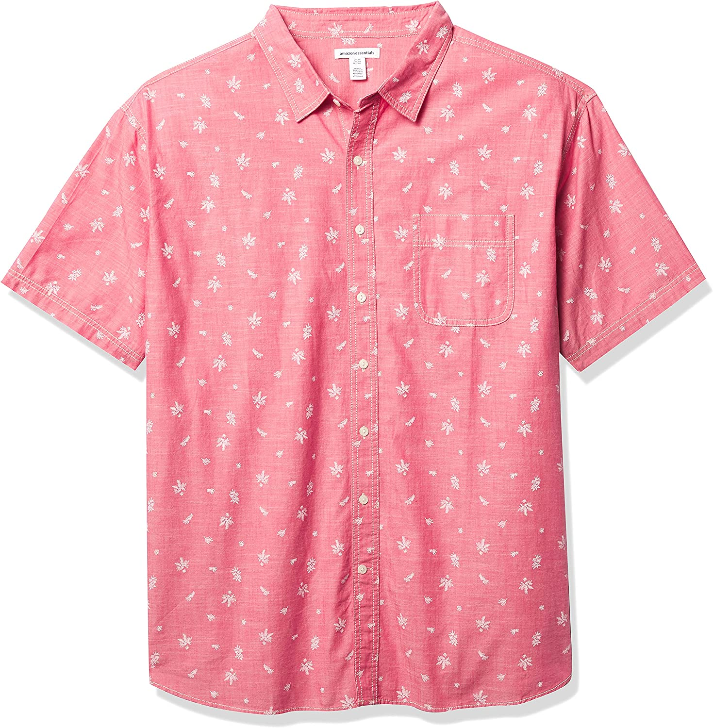 Amazon Essentials A surprise price is realized Men's Big Tall Print Industry No. 1 Pop Short-Sleeve Casual