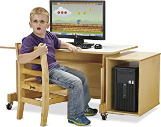 Jonti-Craft 3352JC Apollo Single Computer Desk, Maple Top
