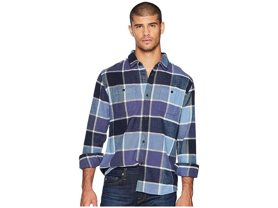 Quiksilver Waterman Cold Breeze Long Sleeve Flannel Shirt (Parisian Night) Men