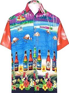 Details about  /Miller Lite Men/'s Button Down NJ Holiday HAWAIIAN Shirt Choose Size Below