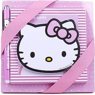 Hallmark Hello Kitty Notepad Set (3 Notepads, 1 Pen) - 5WMW5528