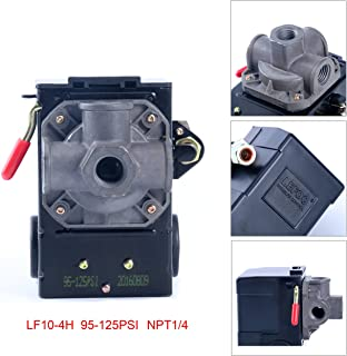 Lefoo Quality Air Compressor Pressure Switch Control 95-125 PSI 4 Port w/Unloader..