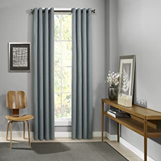 Eclipse Palisade Blackout Grommet Window Curtain Panel Mineral 52X95 95 Inches