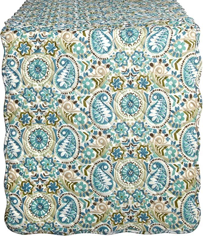 WAVERLY Quilted Paisley Prism Table Runner Multi Color 14 X 70 100 Polyester
