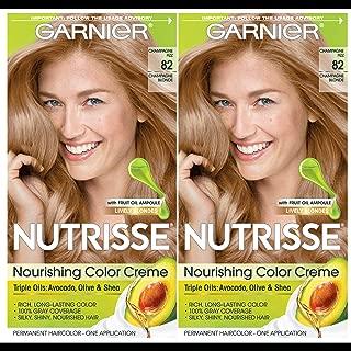 Garnier Hair Color Nutrisse Nourishing Creme, 82 Champagne Blonde (Champagne Fizz), 2 Count