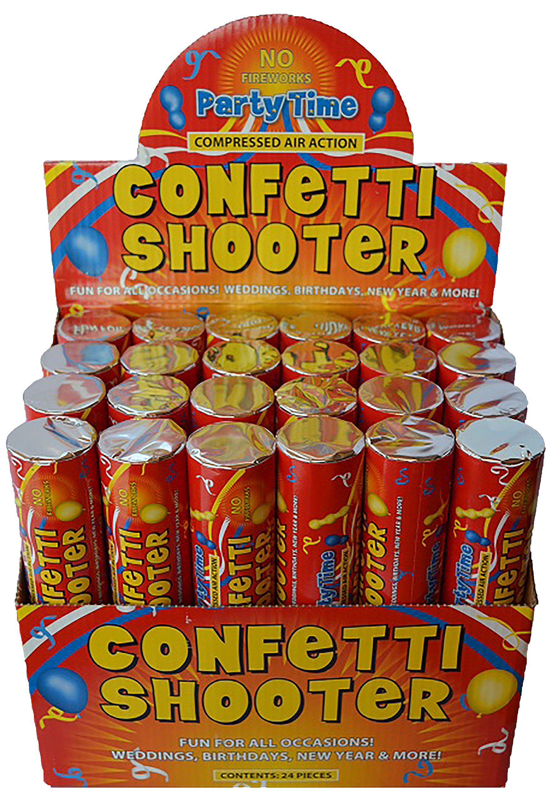 80cm Giant Confetti Shooter Party Wedding Poppers Compressed Air Cannon x6