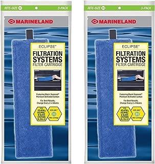Marineland Rite-size H Cartridge Refills, 6-Pack (2 packs with 3 per pack), Aquarium Eclipse 2/3 Filter Cartridges