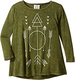 People's Project LA Kids - Arrow Woven 3/4 Sleeve Top (Big Kids)