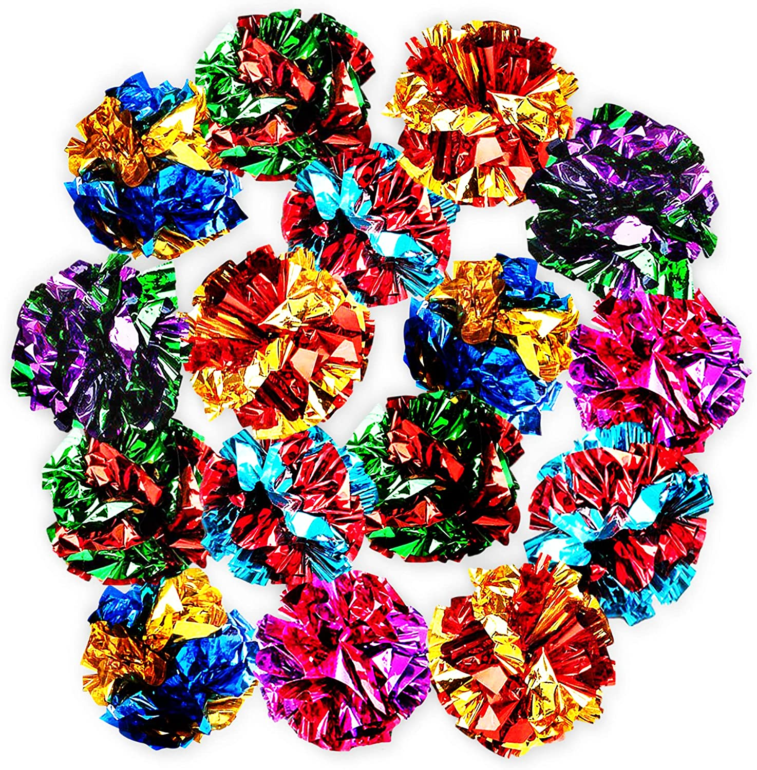 SunGrow Mylar Crinkle Balls Challenge the lowest Regular store price of Japan ☆ for Cats Stress and Shiny To Buster