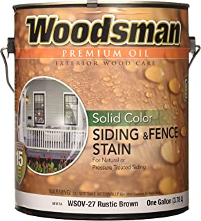 True Value WSOV27-GAL 1-Gallon Brown Solid HSE Stain Solid Color Oil House and Trim Stain