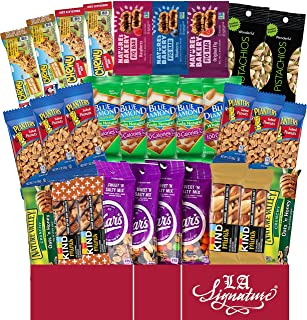 Ultimate Healthy Care Package ( 30 Count ) - Bars & Nuts Variety- Gift Box Bundle Present - Kids, Adults, Boys, Girls, Col...