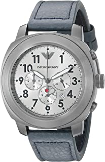 Armani Mens Quartz Watch, Analog Display and Leather Strap AR6086