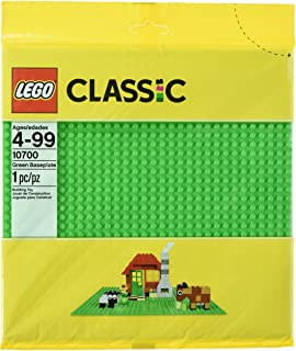 LEGO Classic Green Baseplate Supplement for Building, Playing, and Displaying LEGO Creations, 10cm x 10cm, Large Building Base Accessory for Kids and Adults (1 Piece)