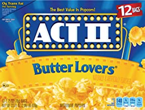 ACT II Butter Lovers Popcorn, 2.75 Ounce (12 Count)