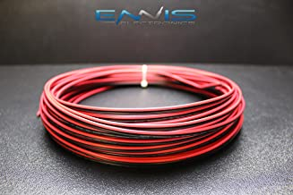 18 GAUGE 100 FT RED BLACK SPEAKER ZIP WIRE AWG CABLE POWER STRANDED COPPER CLAD BY ENNIS ELECTRONICS