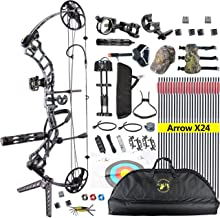 "TOPOINT ARCHERY Trigon Compound Bow Package,CNC Milling Bow Riser,USA Gordon Composites Limb,BCY String,19""-30"" Draw Lengt..."