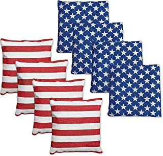 Punchau All Weather Cornhole Bean Bags - Set of 8 Bags for Corn Hole Toss Game - Regulation Size & Weight - 9 Color Combos to Choose from
