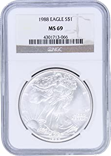 1988 American Silver Eagle $1 MS69 NGC