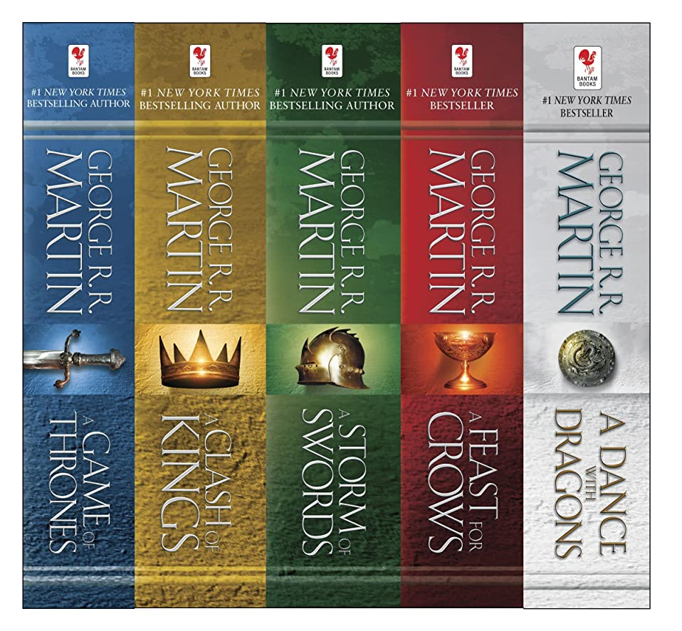 音節構造的良いGeorge R. R. Martin's A Game of Thrones 5-Book Boxed Set (Song of Ice and Fire Series): A Game of Thrones, A Clash of Kings, A Storm of Swords, A Feast for Crows, and A Dance with Dragons