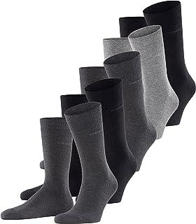 ESPRIT Men Solid-Mix 5er Pack Socks - Cotton Blend, Black (Light Grey/Charcoal/Black 30), UK 6.5-11 (Manufacturer size: 4...