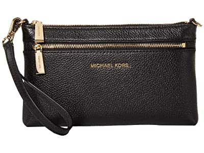 MICHAEL Michael Kors Jet Set Large Wristlet (Black) Wristlet Handbags