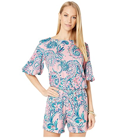 Lilly Pulitzer Britton Romper (Pink Tropics Tint Tangerine Dream) Women